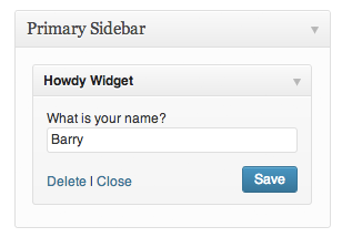 We can now set our name in the widget