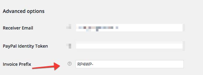 WooCommerce prefix PayPal invoice ID